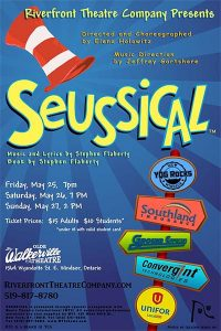 Seussical The Musical Presented by Riverfront Theatre Company Poster