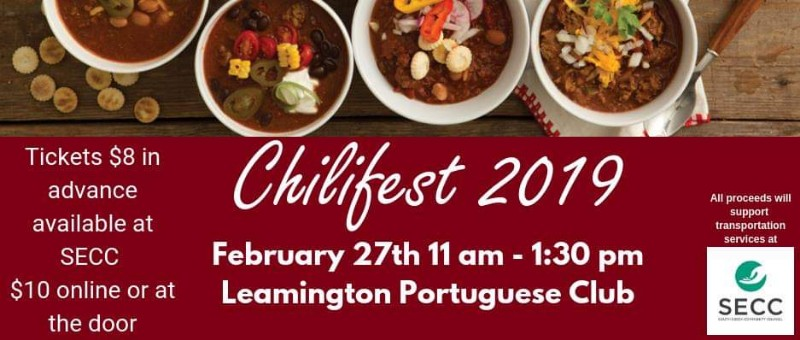 South Essex Community Council Annual Chilifest Poster