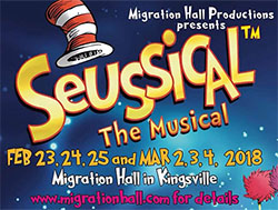 Seussical The Musical Kingsville Migration Hall Sidebar Banner