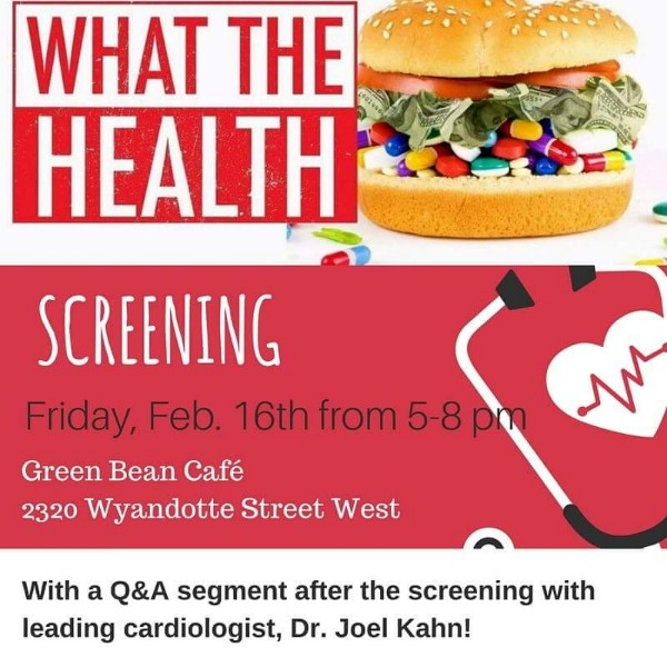 What The Health Movie Screening With Windsor Animal Allies Poster