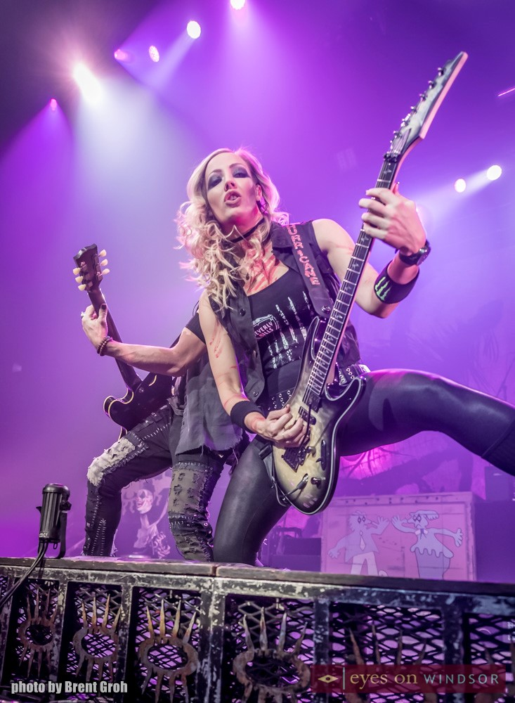 Alice Cooper Band Member Nita Strauss (guitar).