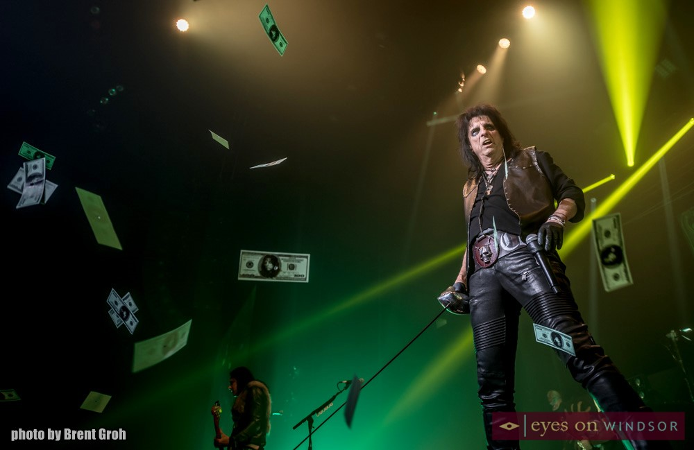 Alice Cooper performs Billion Dollar Babies during Paranormal Tour Kickoff at Caesars Windsor on March 1, 2018.