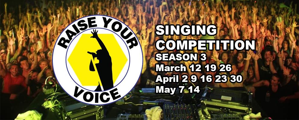 Windsor's Raise Your Voice Singing Competition Season 3 Competition Rounds Banner Slider