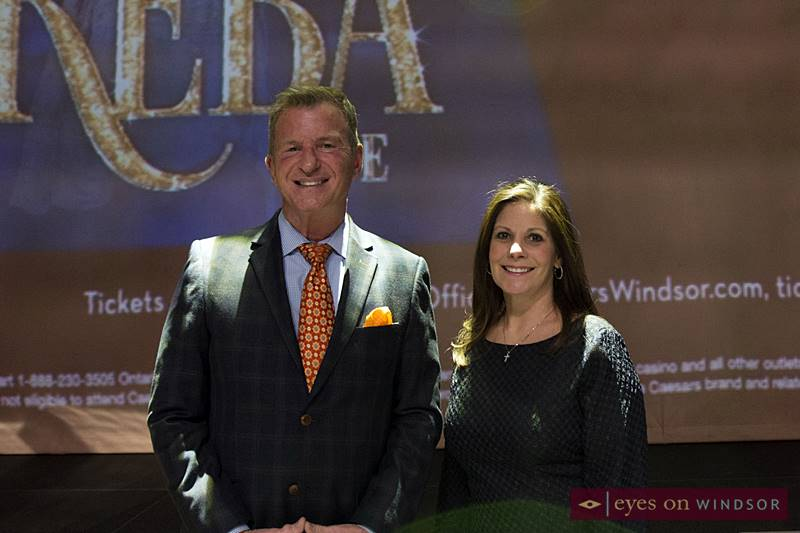 Caesars Windsor's Tim Trombley, Director of Entertainment and Mary Riley, Vice President of Marketing