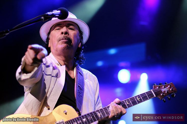 Carlos Santana Unleashes A St. Patrick's Day Buzz On The Crowd at Caesars Windsor