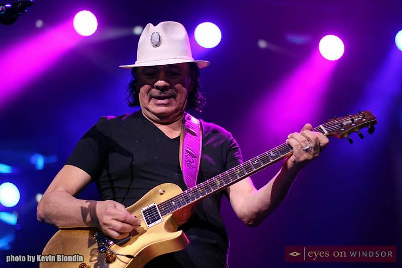 Carlos Santana performing on The Colosseum stage at Caesars Windsor