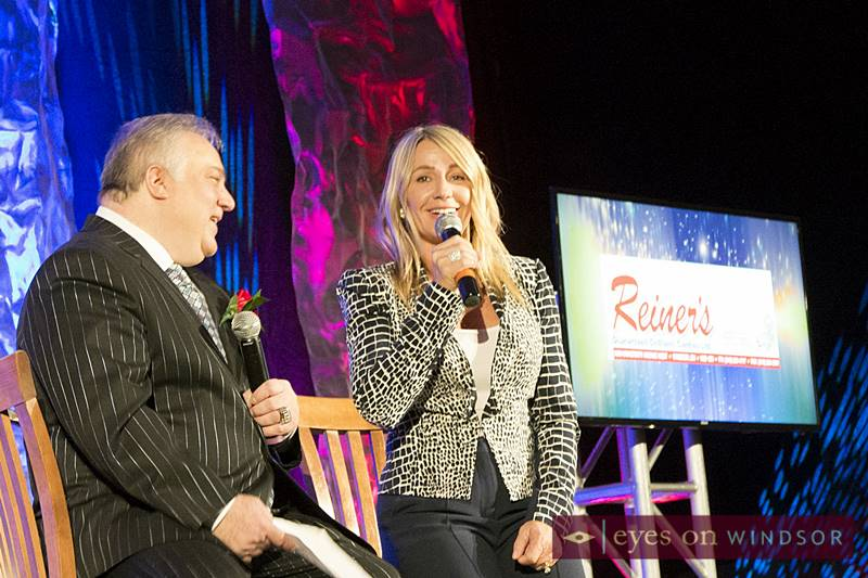 Nadia Comaneci with Dom Papa during 2018 WESPY Awards ceremony.