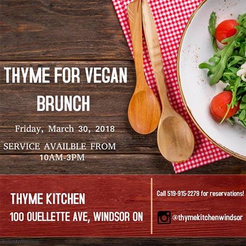 Good Friday Vegan Brunch at Thyme Kitchen Poster