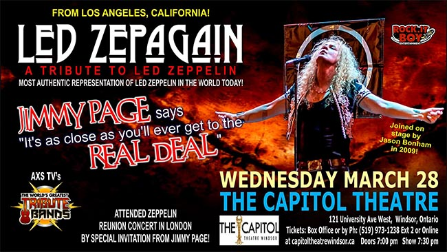 Led Zepagain, Led Zeppelin Tribute Concert in Windsor, Ontario. (Poster)
