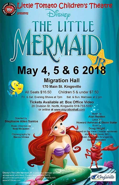 Little Tomato Children's Theatre Disney's The Little Mermaid Poster