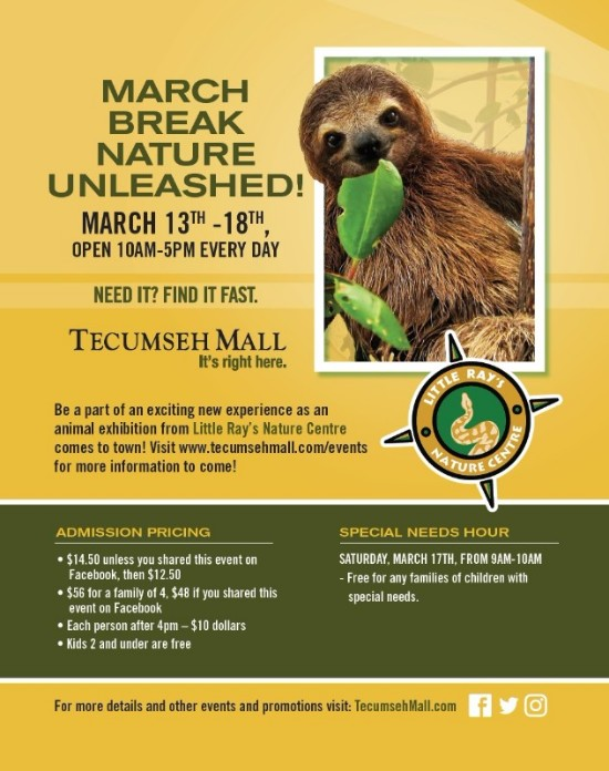 March Break At Tecumseh Mall Poster