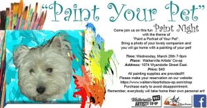 Paint Your Pet Paint Night With Nora Franko