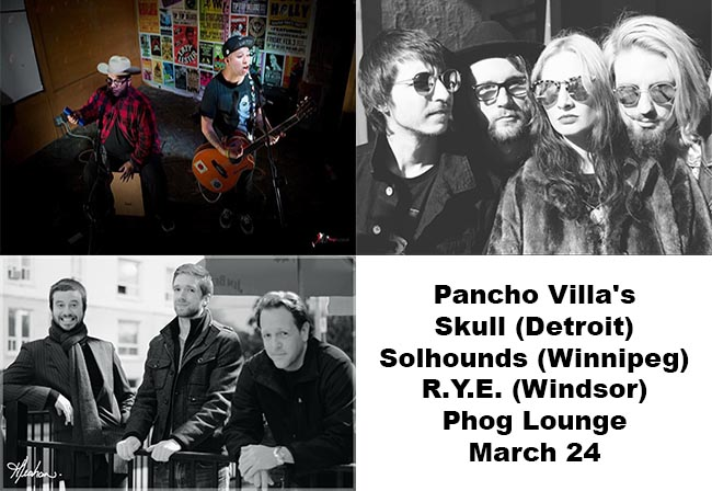 Pancho Villa's Skull, Solhounds, and R.Y.E. Live at Phog Lounge