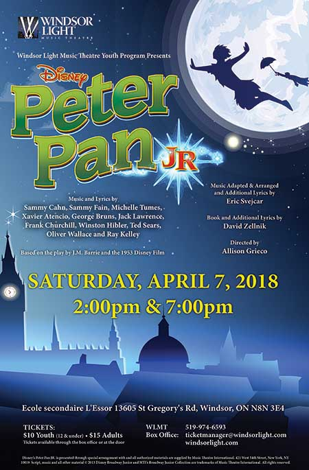 Windsor Light Music Theatre Presents Peter Pan Jr.
