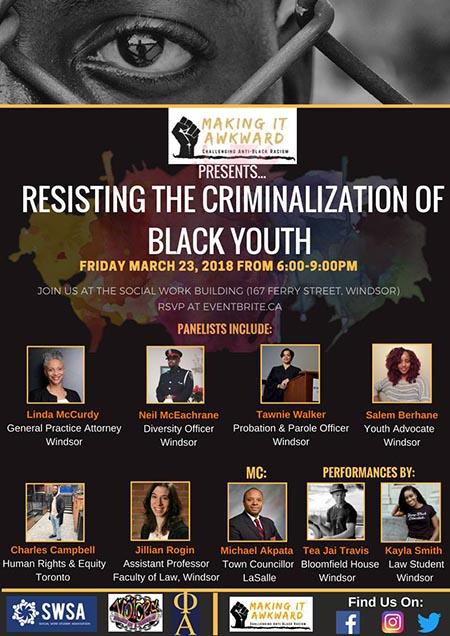Making it Awkward:Resisting the Criminalization of Black Youth Poster