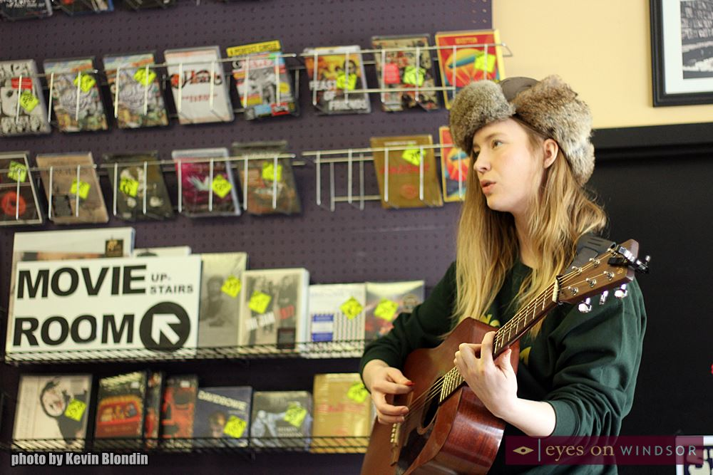Skye Wallace performing live at Dr. Disc Records