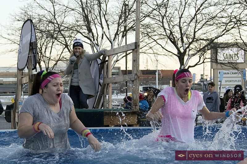 Participants take part in the annual Windsor Polar Plunge.