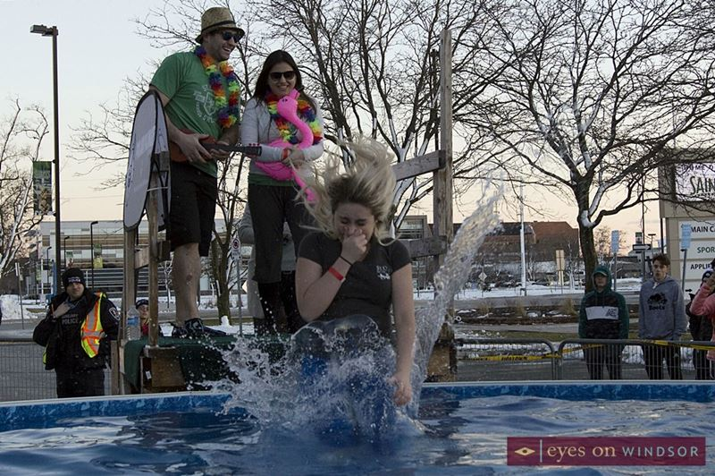 People participating in the Windsor Polar Plunge.