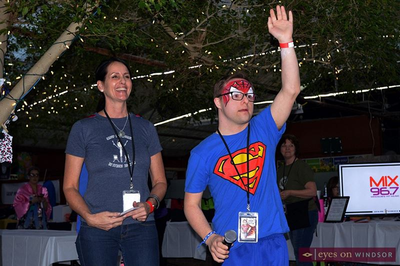 Andrew Banar and his mom Karen of Group Hug Apparel Thank Guests For Attending Their Rock Your Socks Fundraiser.