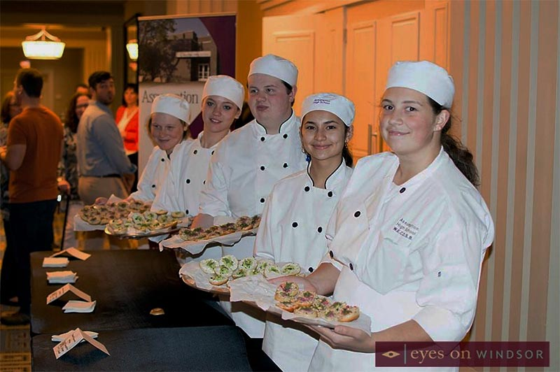 Assumption College Catholic High School culinary arts students at Battle of the Hors D'oeuvres