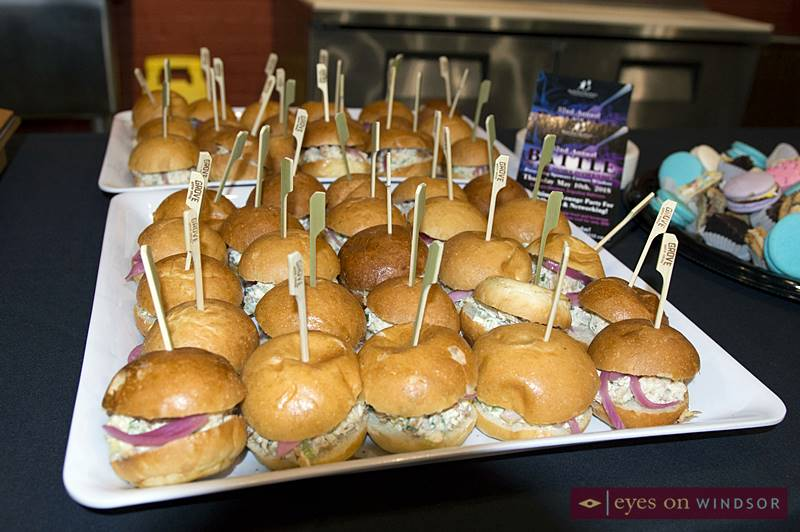 The Grove Brew House provided slider/sandwiches during a media launch announcing the details of the upcoming Big Brothers Big Sisters Windsor Essex Battle of The Hors D'oeuvres