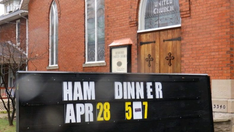 Historic Anti-Rum Running Bedford Church In Old Sandwich Town Hosting Ham Dinner