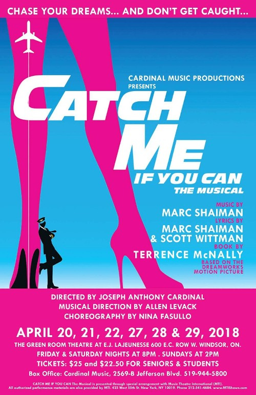 Cardinal Music Productions Catch Me If You Can Poster