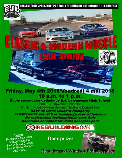 E.J. Lajeunesse Classic and Modern Muscle Car Show Poster