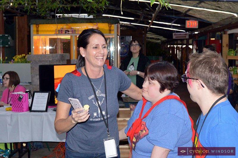 Karen Pickle of Group Hug Apparel during Rock Your Socks Fundraiser.