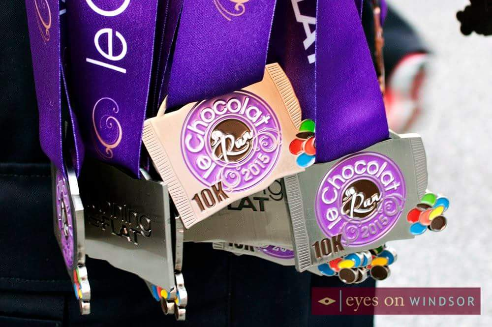 Le Chocolat Finishers Medals