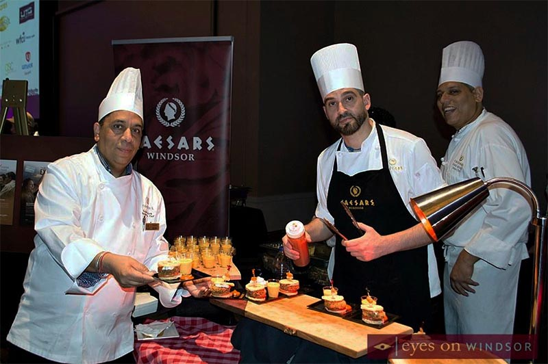 Caesars Windsor Chefs serving hors d'oeuvres during Battle of The Hors D'oeuvres