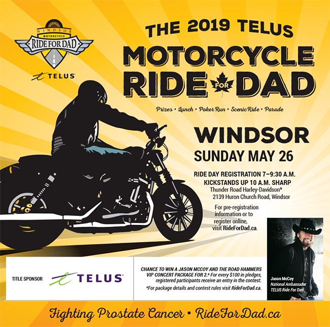 Telus Ride For Dad Windsor Poster