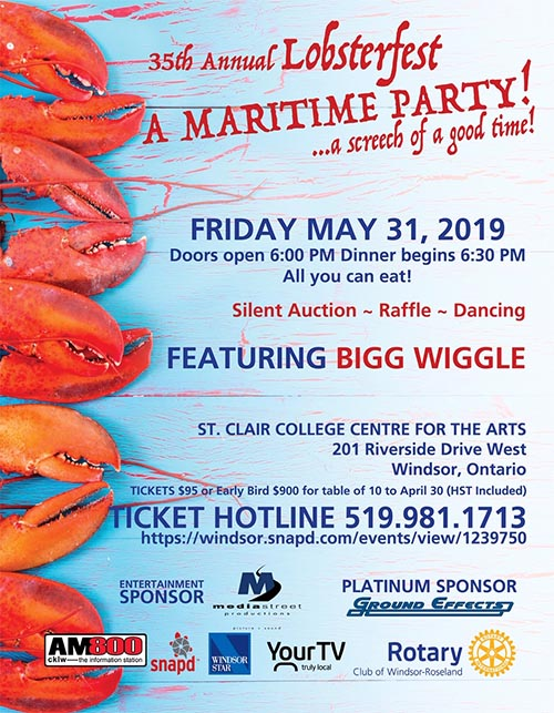 Rotary Club of Windsor-Roseland Lobsterfest Poster