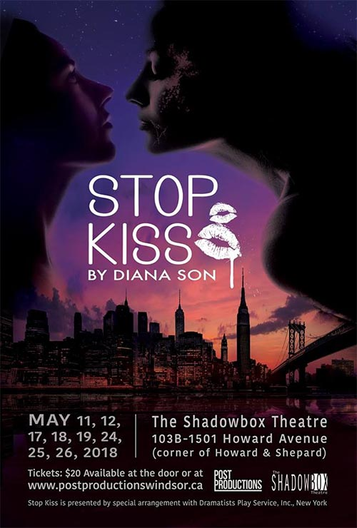 Post Productions presents Stop Kiss by Diana Son at Shadowbox Theatre (Poster)