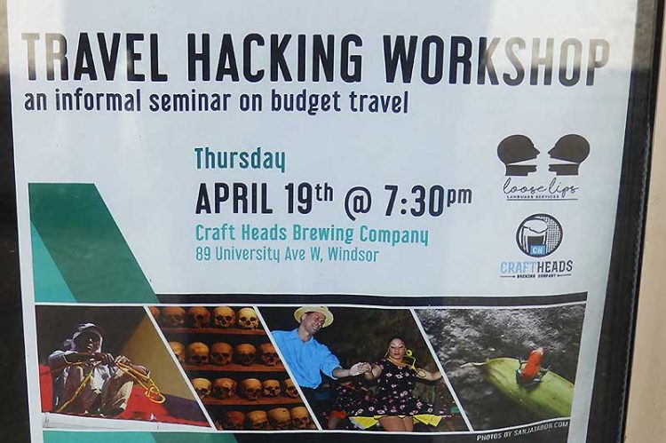 Cheap Travel Secrets to be Revealed at Craft Heads During Travel Hacking Workshop