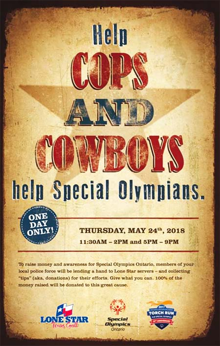 Cops & Cowboys Windsor For Special Olympics at Lone Star Texas Grill
