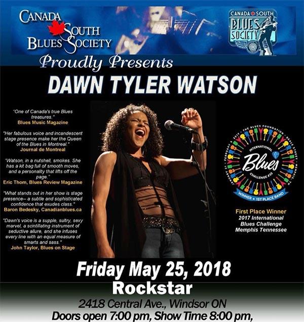 Canada South Blues Society Dawn Tyler Watson Poster