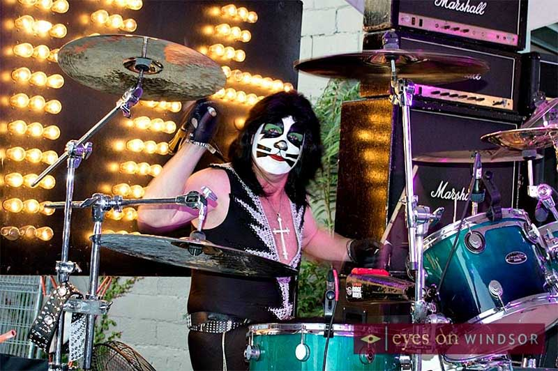 Former Destroy Canada band member Michael Chichkan as Peter Criss on drums.
