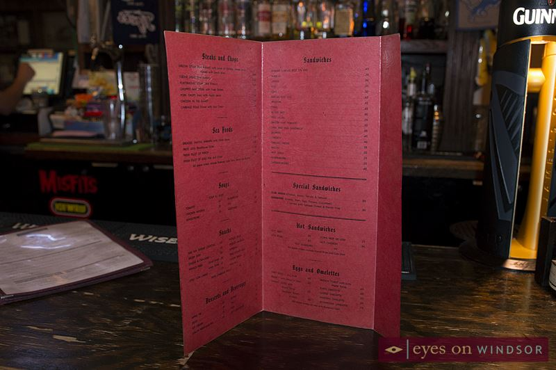 Vintage Dominion House Tavern Menu