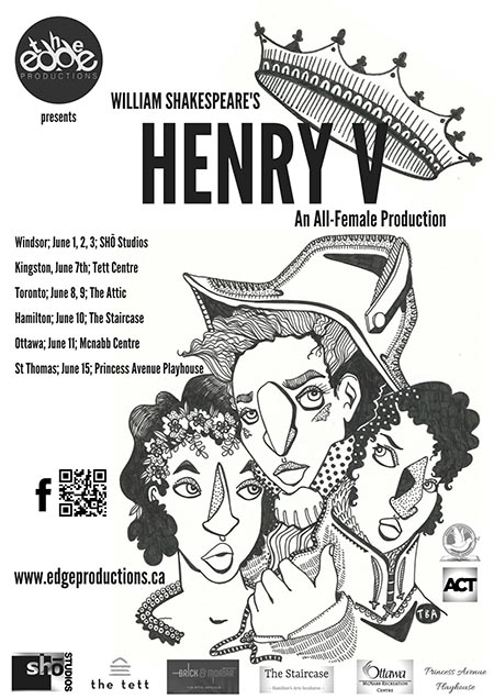 The Edge Productions All Female Henry V by William Shakespeare Poster
