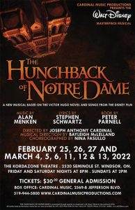 The Hunchback of Notre Dame Presented by Cardinal Music Productions (Poster)