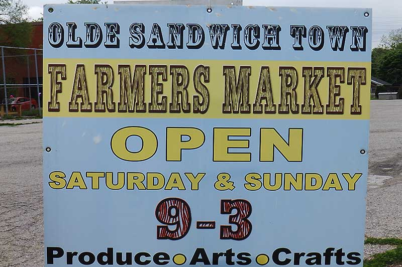 Olde Sandwich Towne Farmers Market Sign