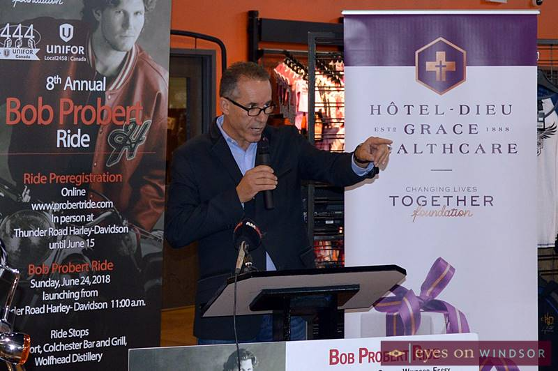 Bill Mara opens 8th Annual Bob Probert Ride Media Conference