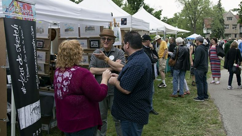 Artists Speak at Milestone 40th Annual Art In The Park Windsor This Past Weekend
