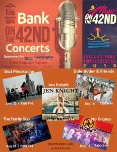 Bank OnThe42 Concert Series in Leamington Poster