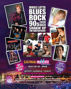 Bluesfest Windsor 2018 Poster