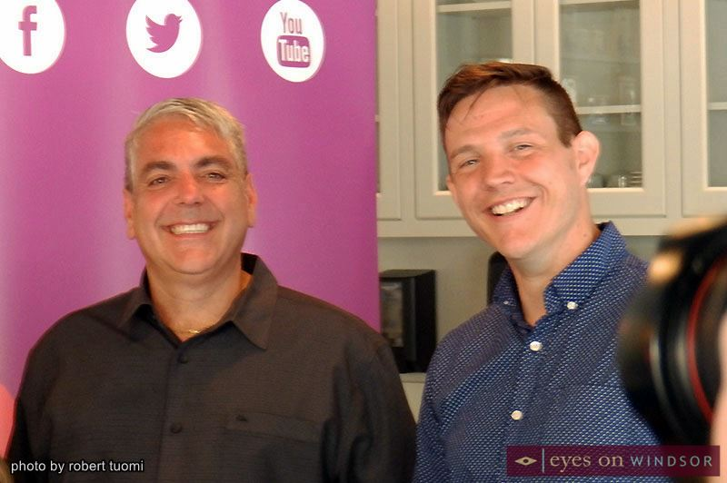 Buskerville Festival founder Mark Boscariol (left) poses with executive director Jason Henderson