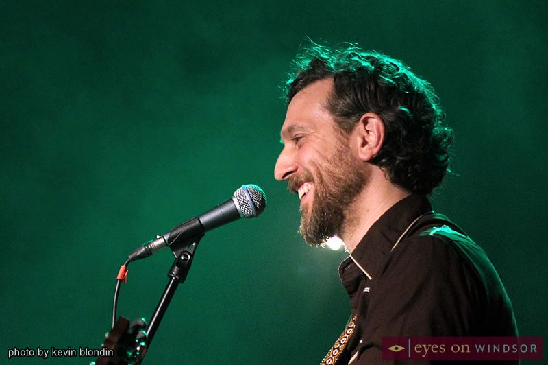 Great Lake Swimmers frontman, singer and songwriter Tony Dekker, smiles