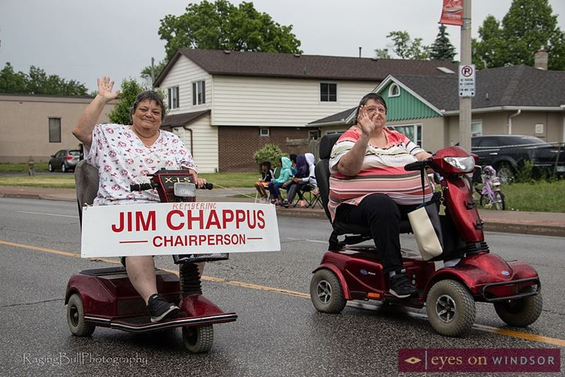 Jim Chappus signage displayed during the Lasalle Strawberry Festival.