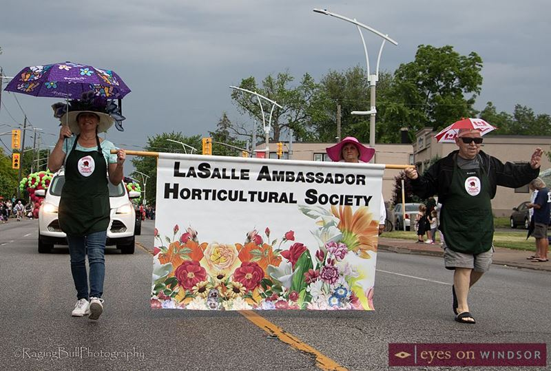 Lasalle Ambassador Horticultural Society are part of the Lasalle Strawberry Festival Parade